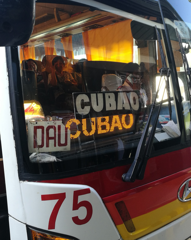 DAU行きのバス