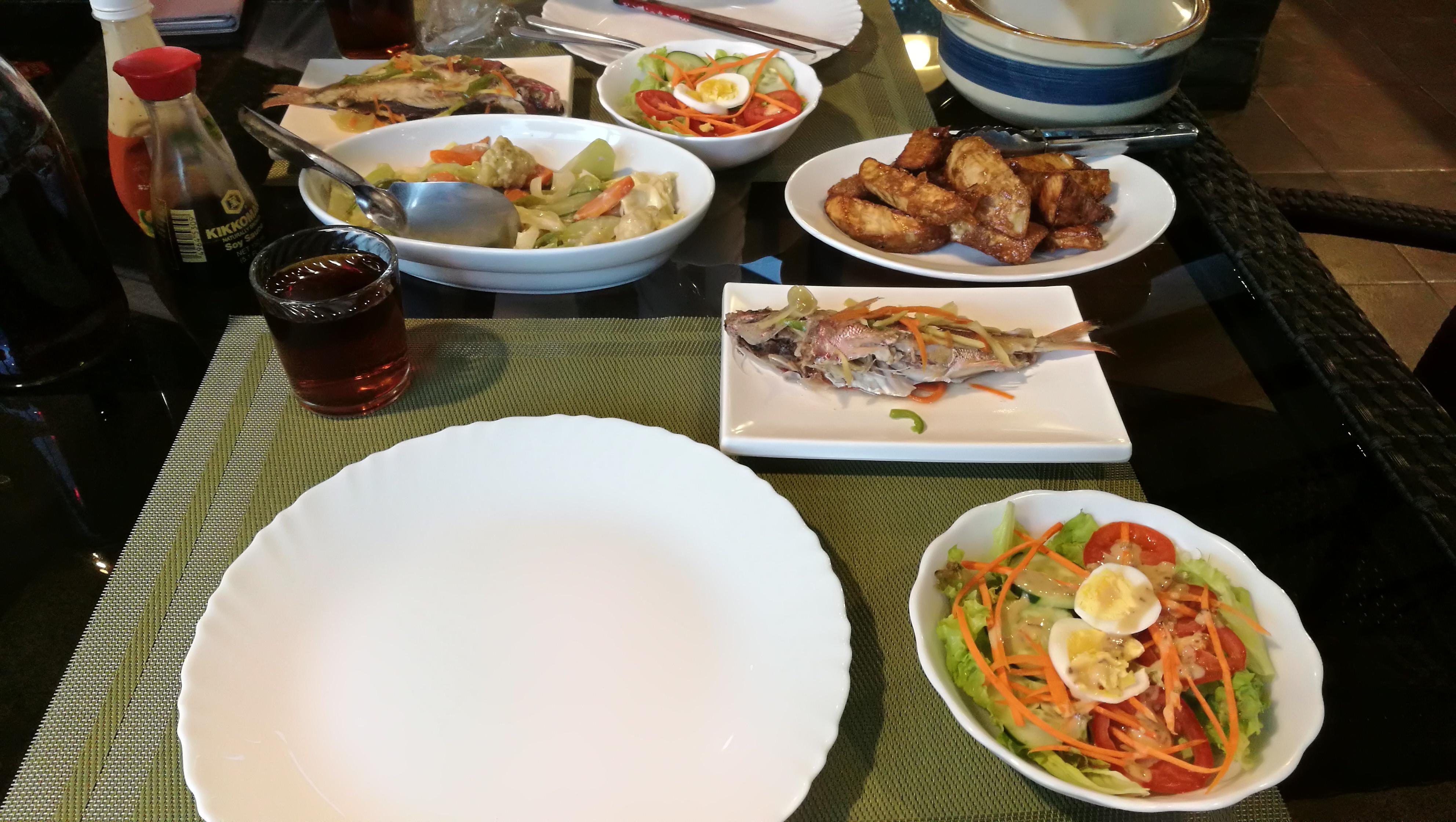 友人塾の食事